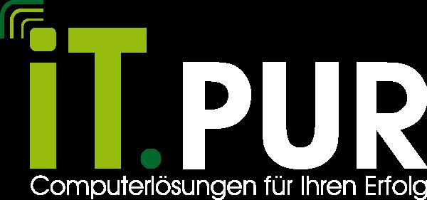 it.PUR Logo auf schwarz
