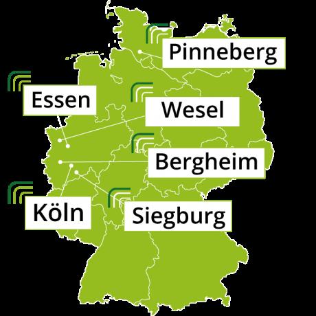 IT Service Standorte Köln, Essen, Wesel, Siegburg, Bergheim und Pinneberg